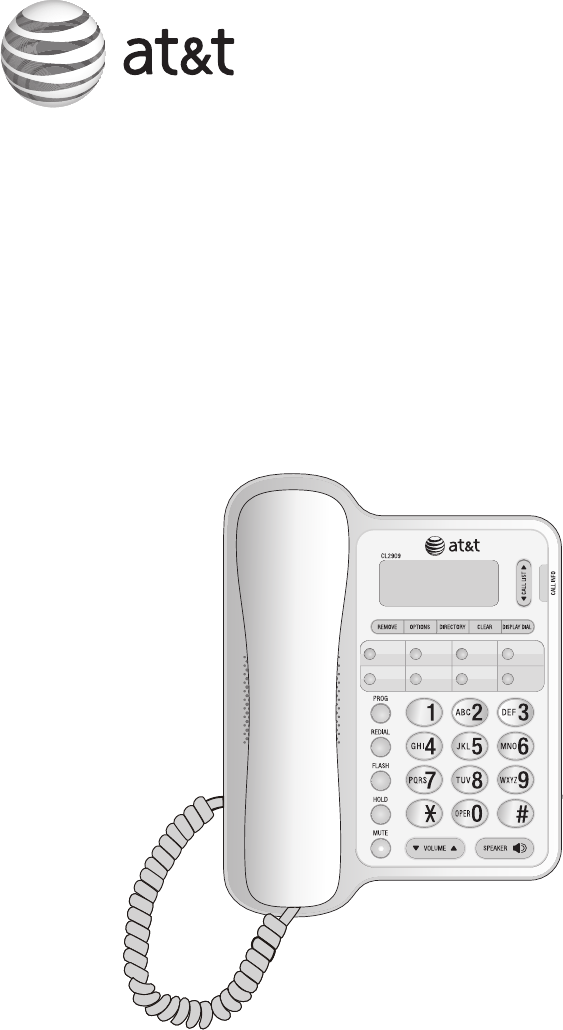 At U0026t Telephone Atcl2909 User Guide