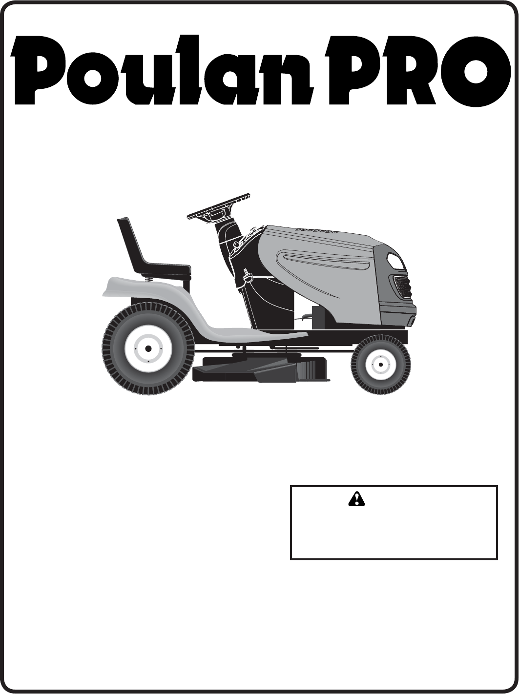 poulan lawn mower pb24h54yt user guide | manualsonline.com poulan riding mower schematics #1