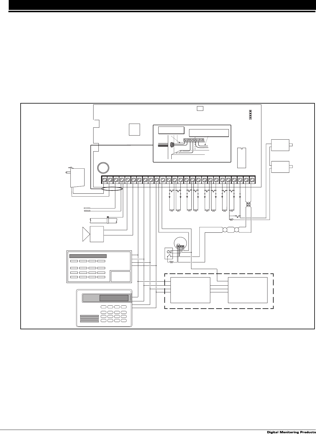 page 7 of dmp electronics home security system lt 0229 (5 97) user dmp 431 output harness at Dmp Fire Alarm Wiring Diagrams