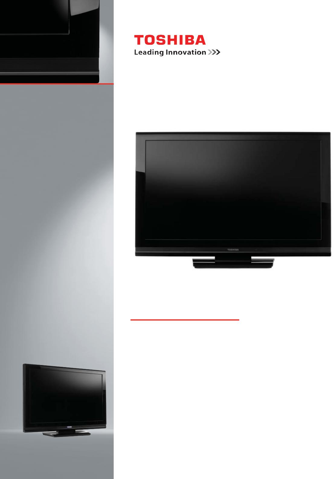 Toshiba 26AV502R Flat Panel Television User Manual