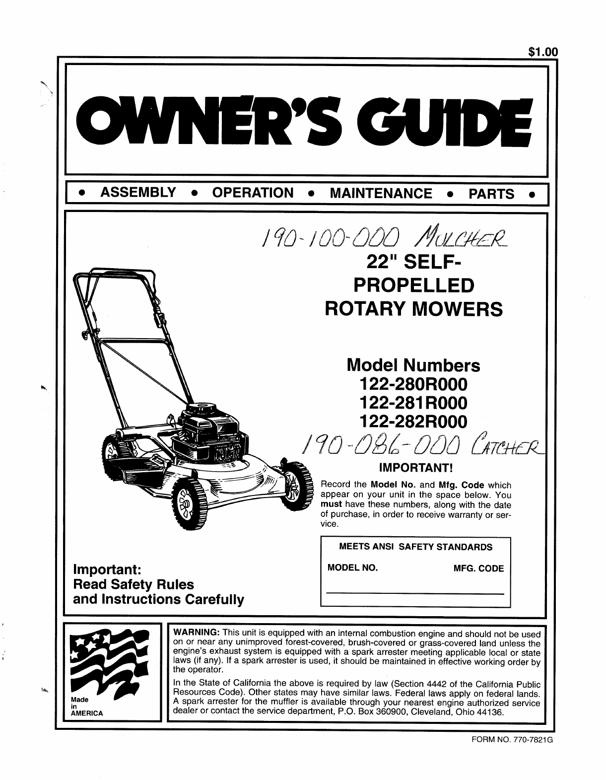I Have A 2007 Bolens Lawn Tractor And I Need To Replace Manual Guide
