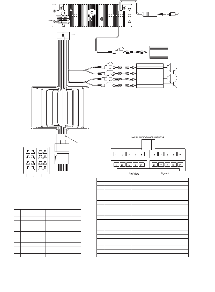 page 6 of boss audio systems car stereo system 765dbi user guide wiring diagram 20 pin iso plug