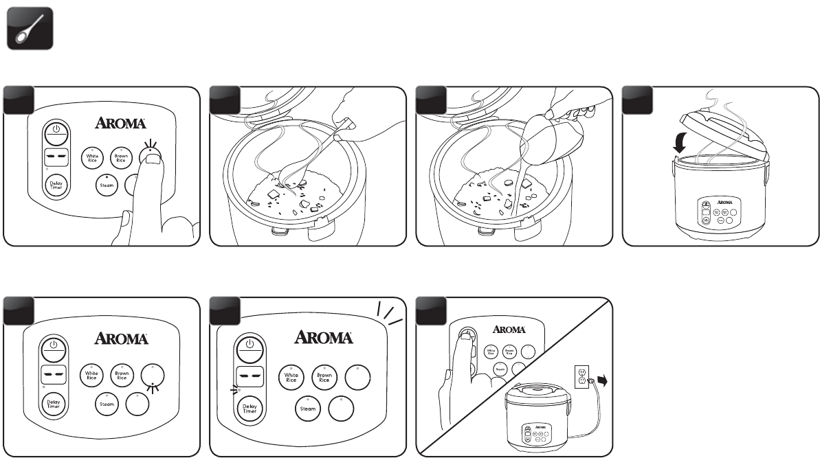page 16 of aroma rice cooker arc 1030sb user guide manualsonline com rh kitchen manualsonline com Colorful Art Aroma Logo