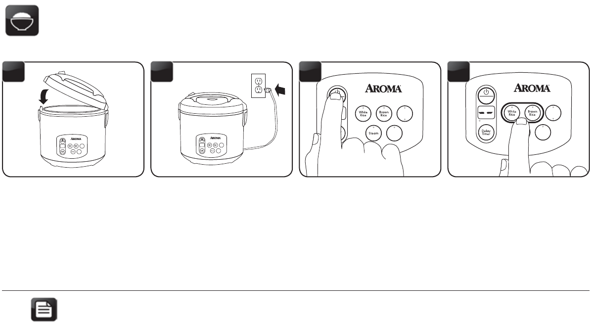 page 8 of aroma rice cooker arc 1030sb user guide manualsonline com rh kitchen manualsonline com Aroma Logo Aroma Spa