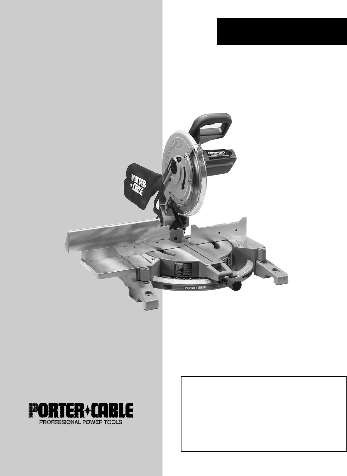 porter cable vacuum instruction manual
