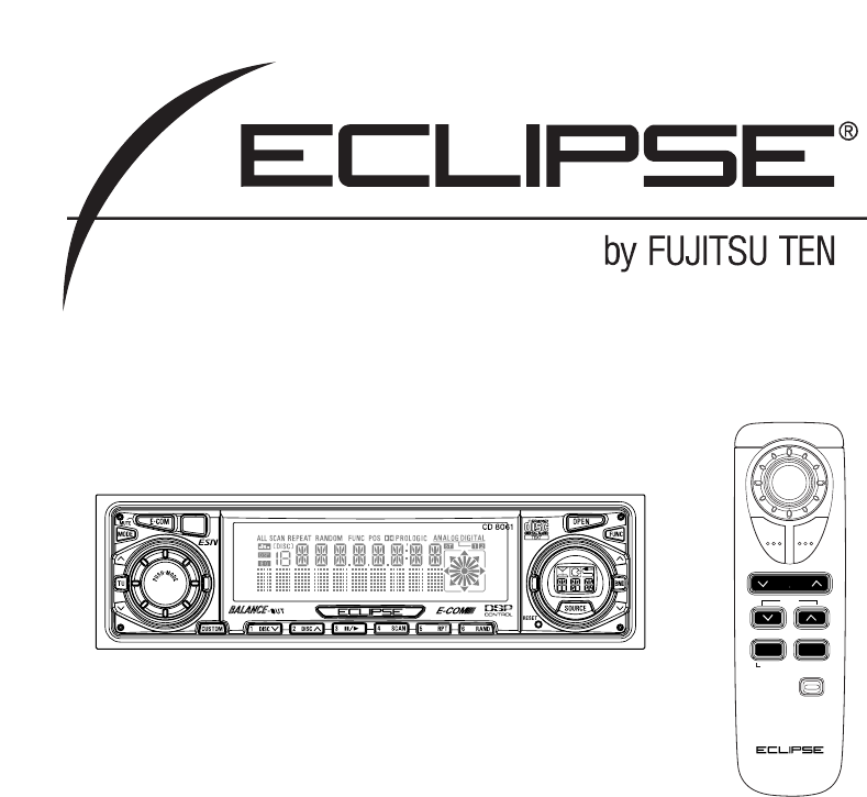 eclipse fujitsu ten car stereo system cd8061 user guide rh caraudio manualsonline com Fujitsu Ten Eclipse Car Audio Computer Speakers