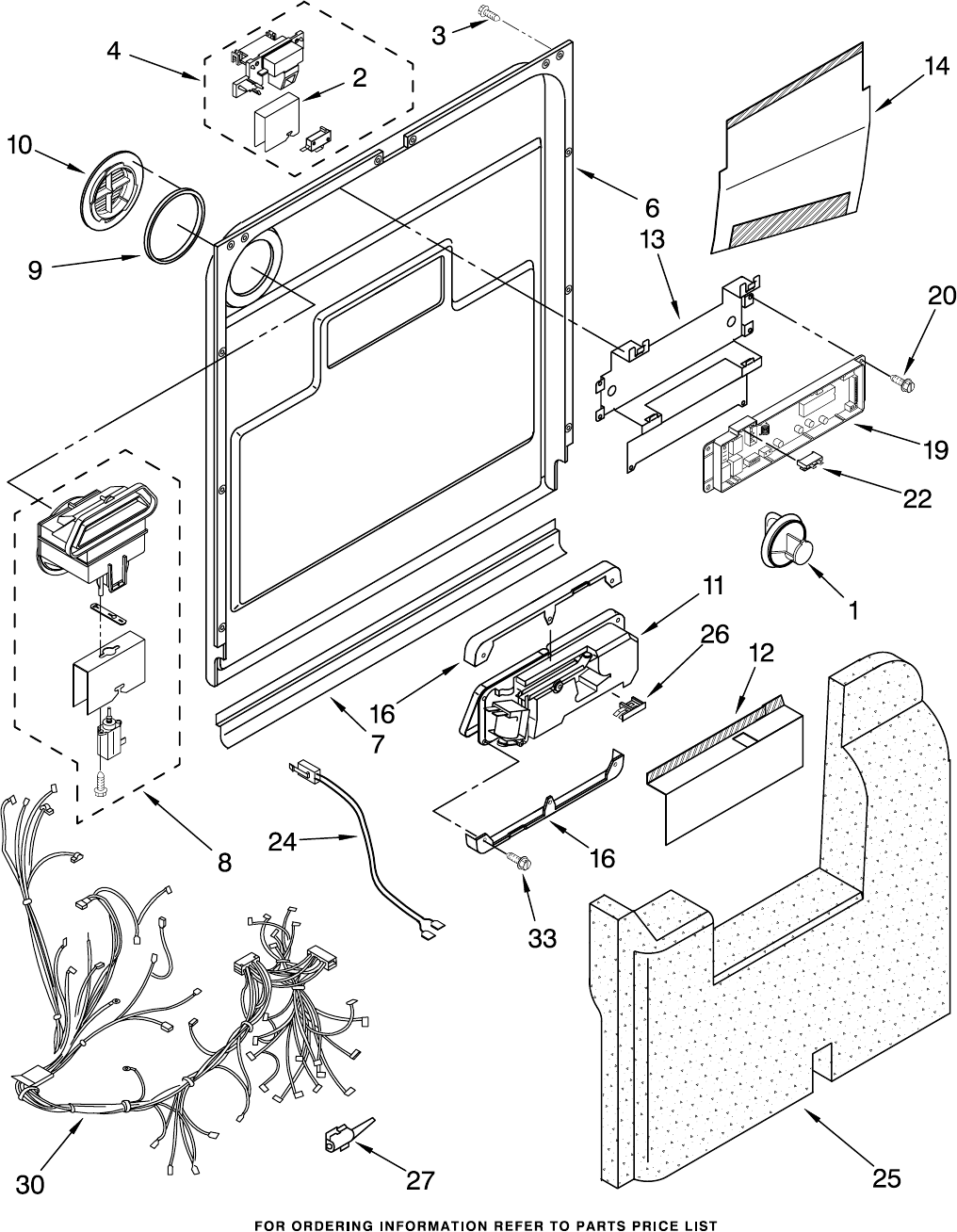 wiring diagram for kitchenaid refrigerator with Ge Dishwasher Wiring Harness on Model Number Locator 8 repair in addition Kitchenaid Repair together with Wiring Diagram For Asko Dishwasher in addition Eskimo Ice Auger Parts List Wiring Diagrams as well Kenmore Dishwasher Schematics.