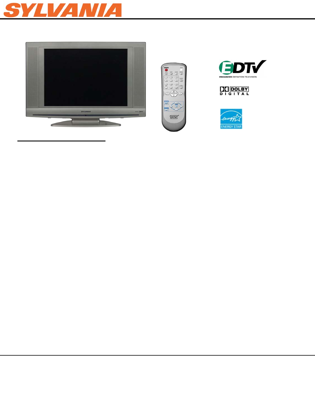 sylvania flat panel television lc200sl8 user guide manualsonline com rh tv manualsonline com Sylvania Telephone Help Wanted Sylvania Telephone Help Wanted
