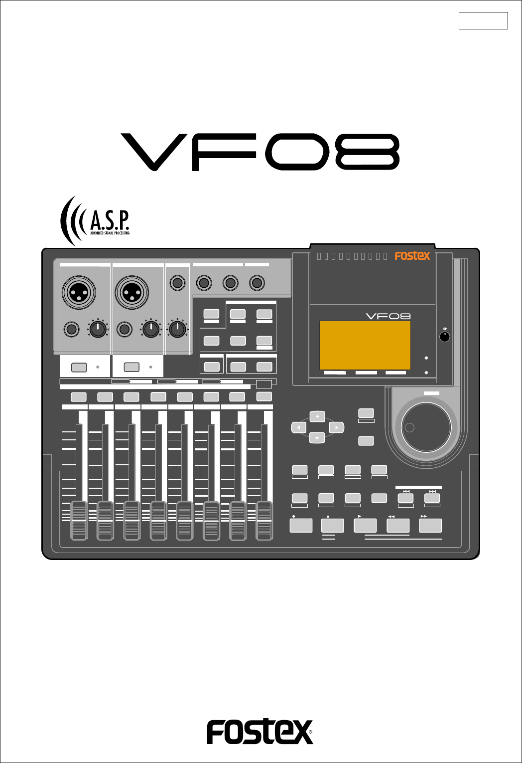 fostex musical instrument vf08 user guide manualsonline com rh music manualsonline com Fostex MR16 Fostex T50RP