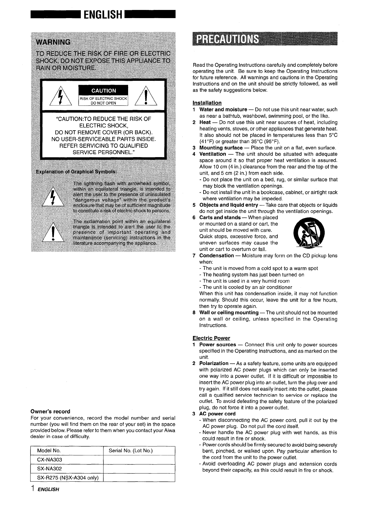 Page 2 of aiwa speaker system cx-na303 user guide | manualsonline. Com.