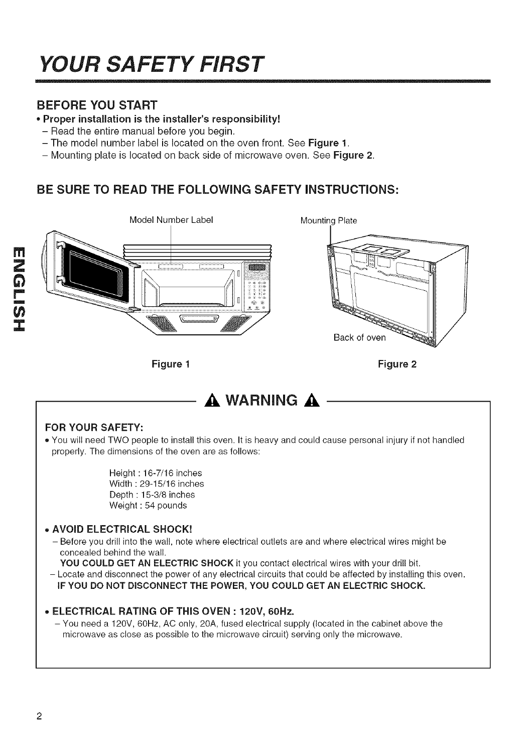 Page 2 Of Kenmore Microwave Oven 72180529 User Guide Circuit Manual