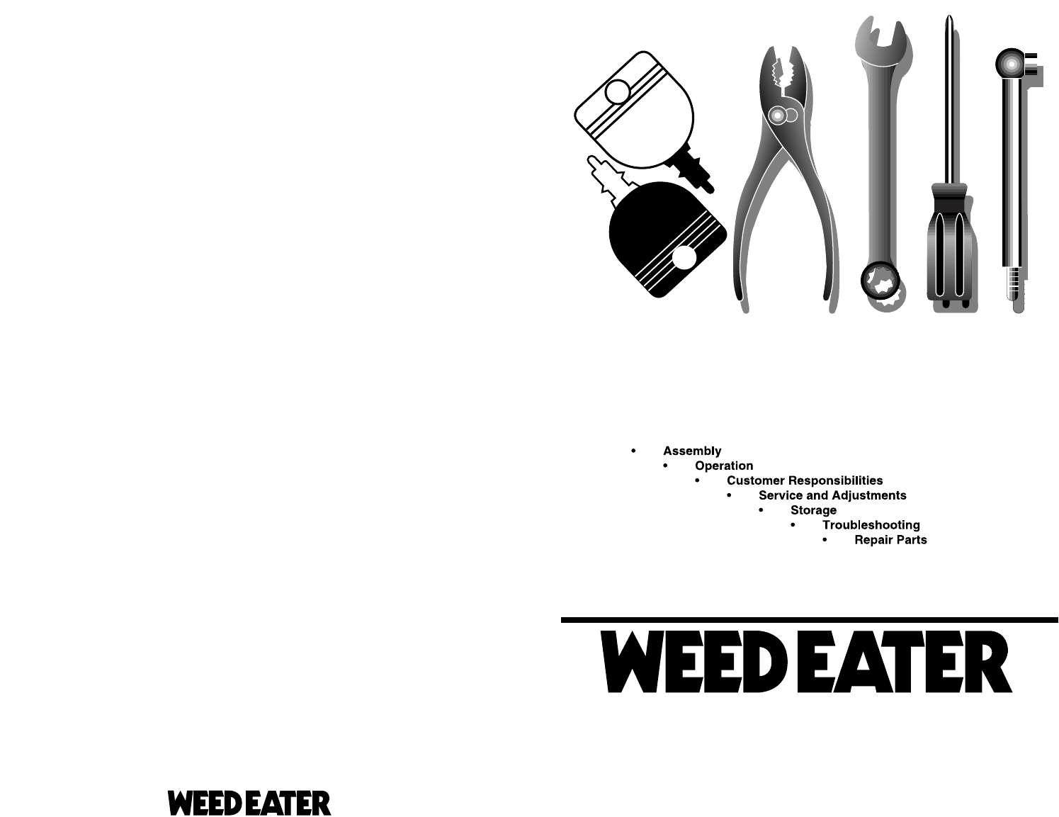 weed eater lawn mower parts diagrams. owner\u0027s manual weed eater lawn mower parts diagrams