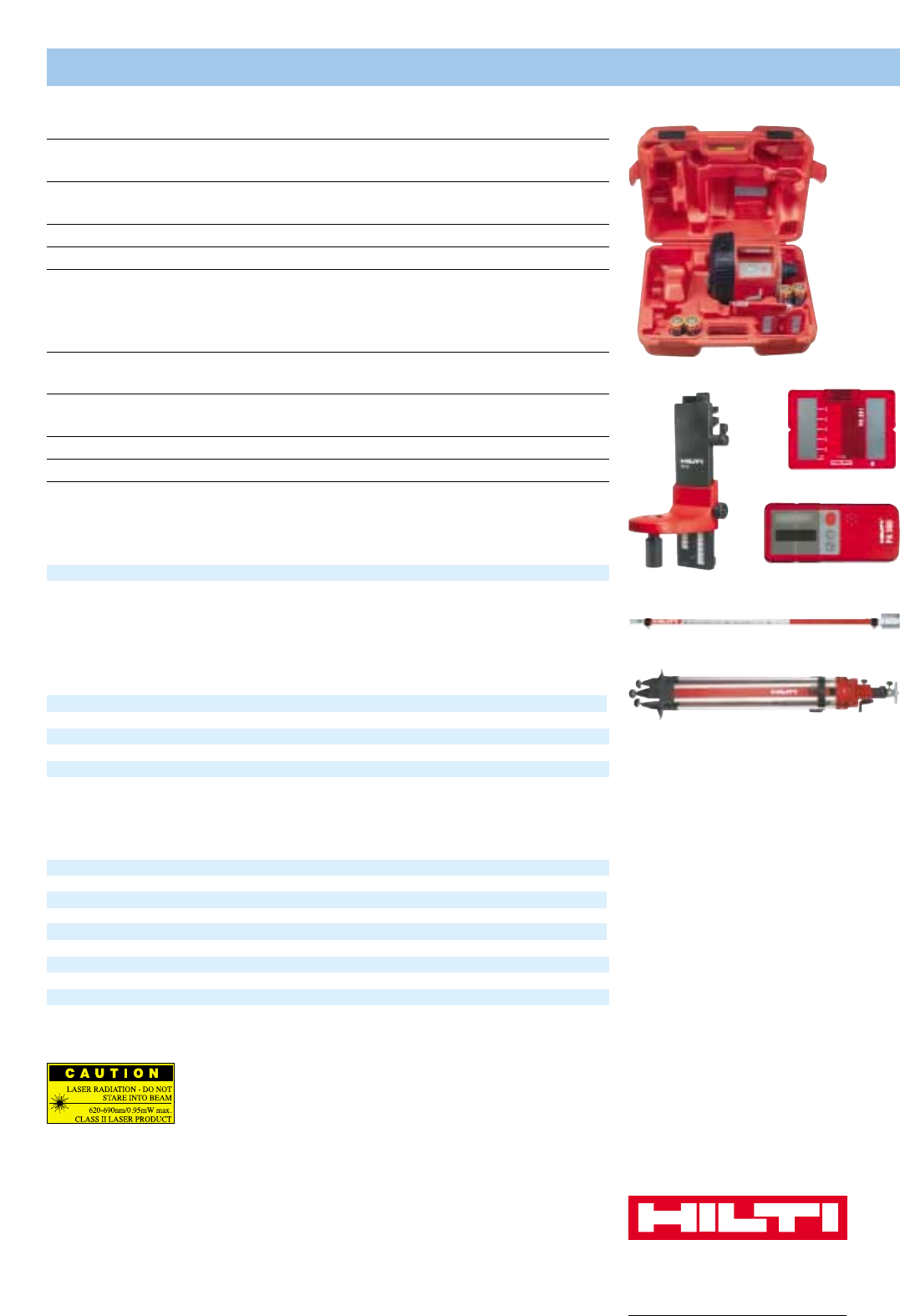page 6 of hilti laser level pr 16 user guide manualsonline com rh powertool manualsonline com PR 16 Bulb User ID and Password