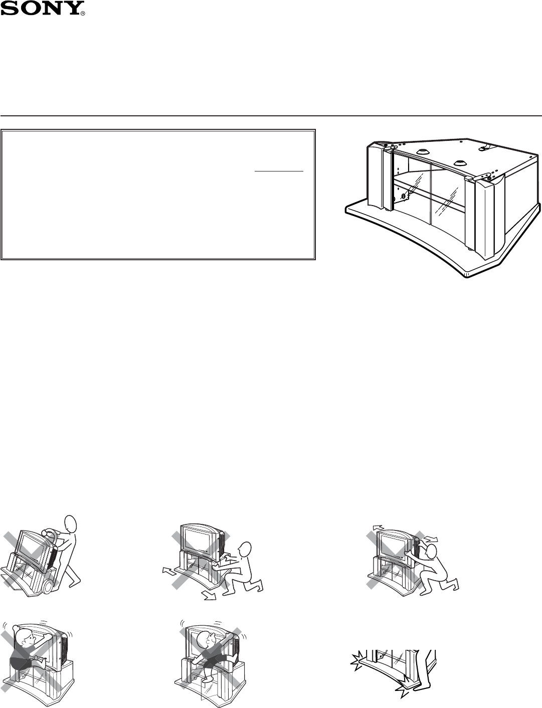 Sony indoor furnishings su 27f2 user guide for Le meuble headsets