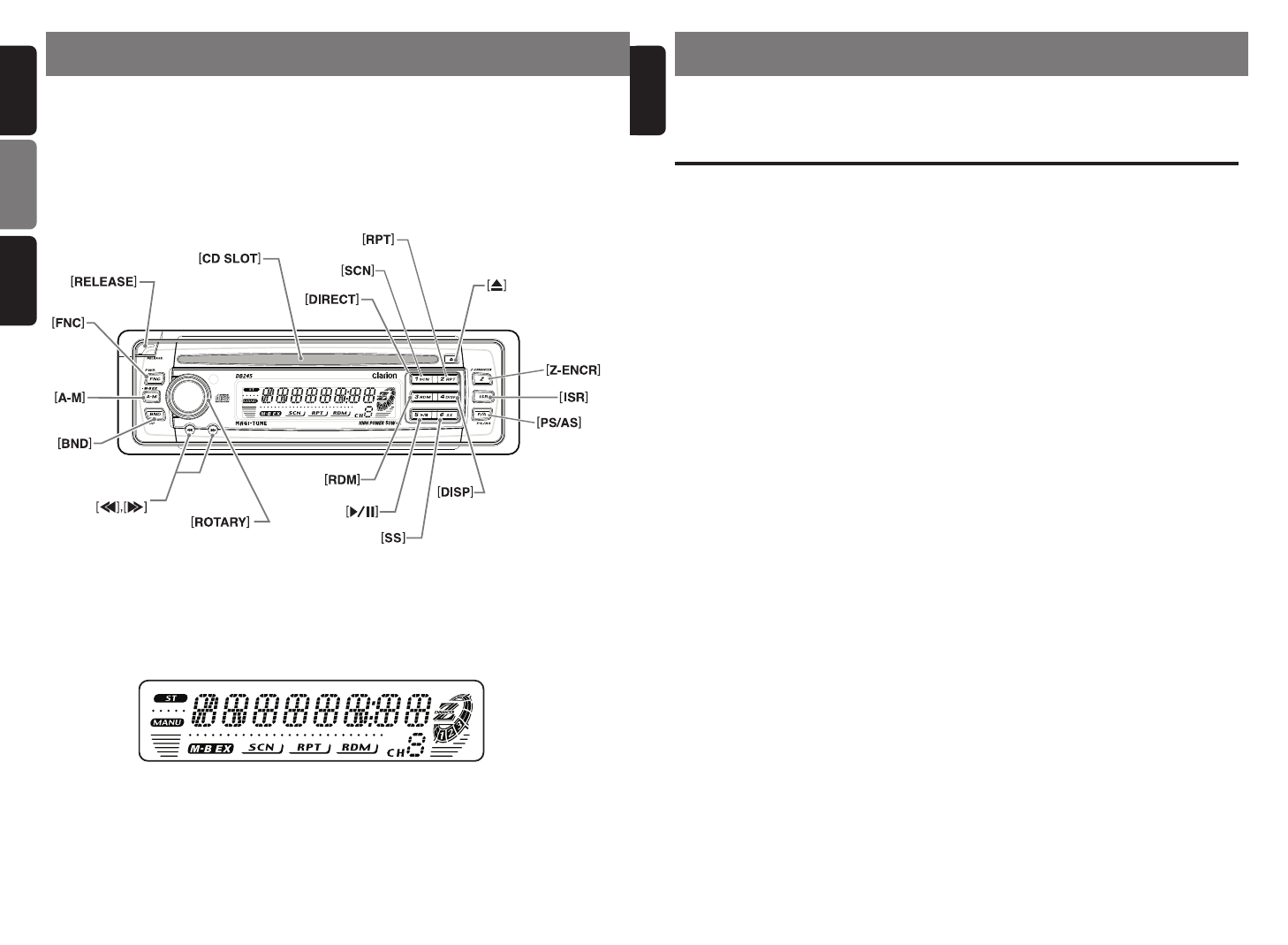 Clarion Db245 Manual Wiring Diagram Page 3 Of Car Stereo System User Guide Manualsonline Com Rh Caraudio