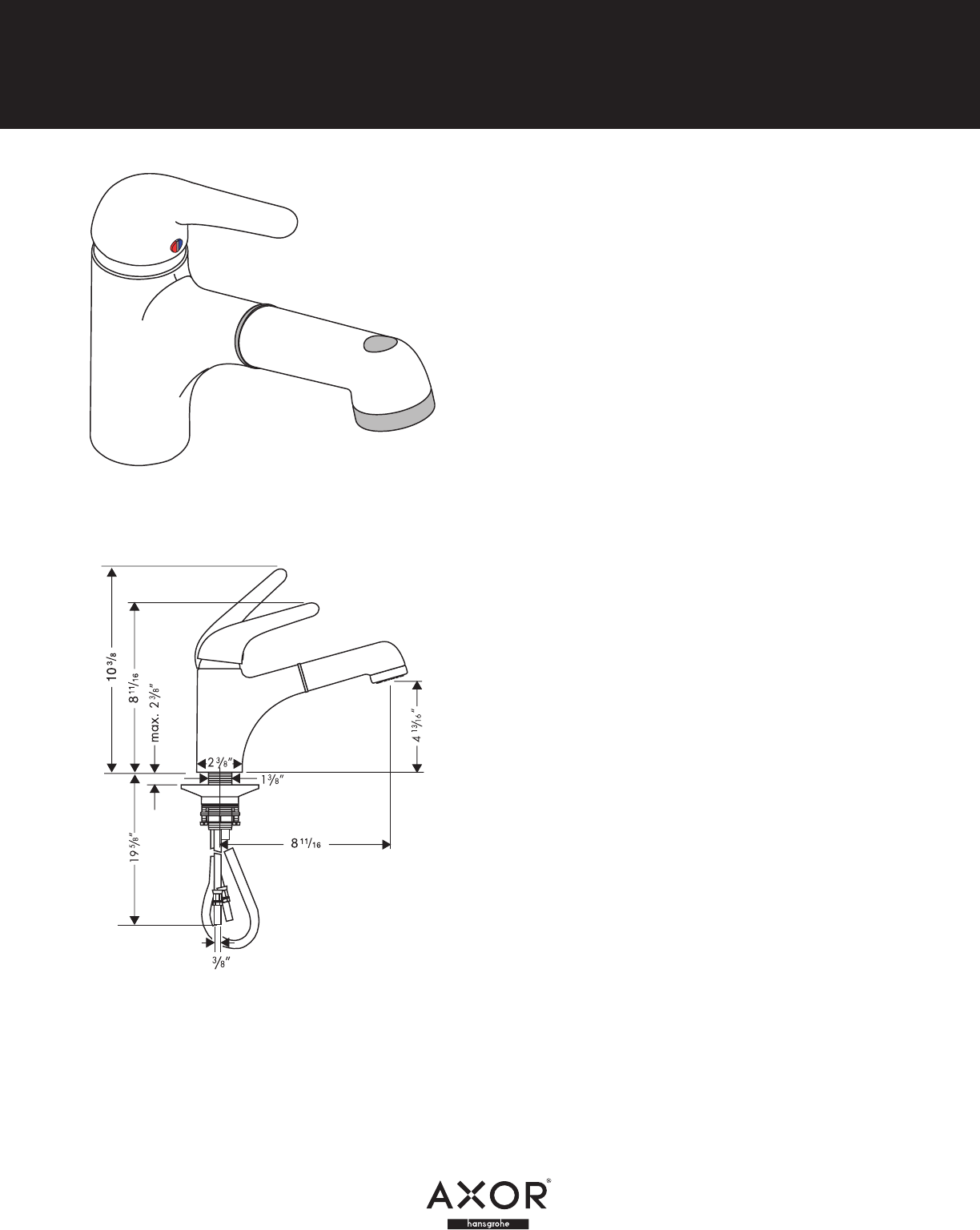 Axor Plumbing Product 35807801 User Guide | ManualsOnline.com