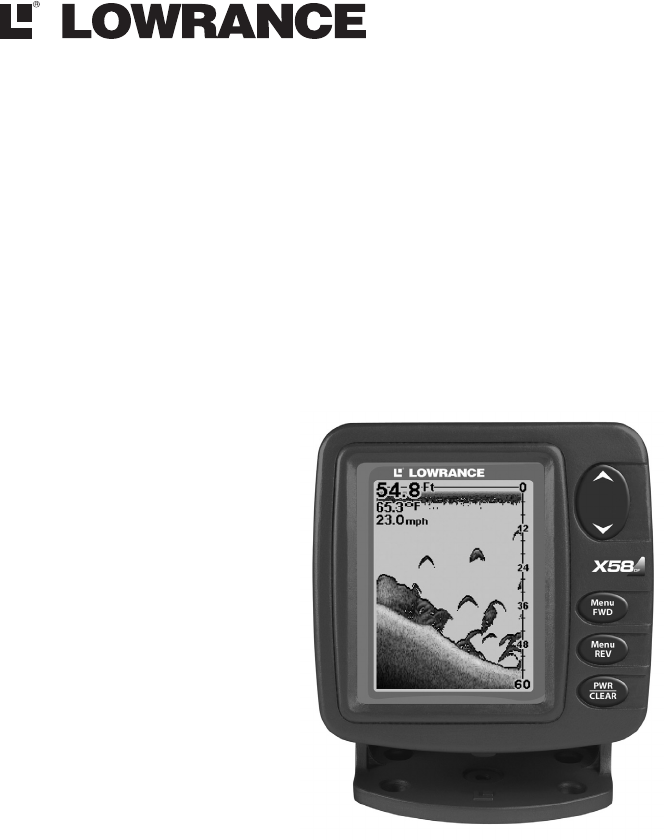 Lowrance electronic Fish Finder X51 User Guide