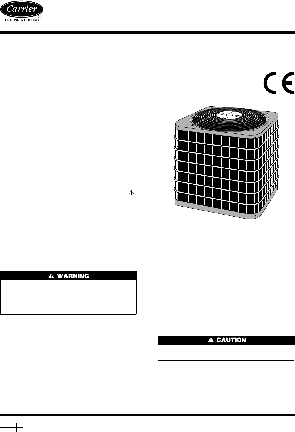 carrier heat pump 38ycx user guide manualsonline com rh homeappliance manualsonline com Heat Pump Ratings by Brand Carrier Heat Pump Package