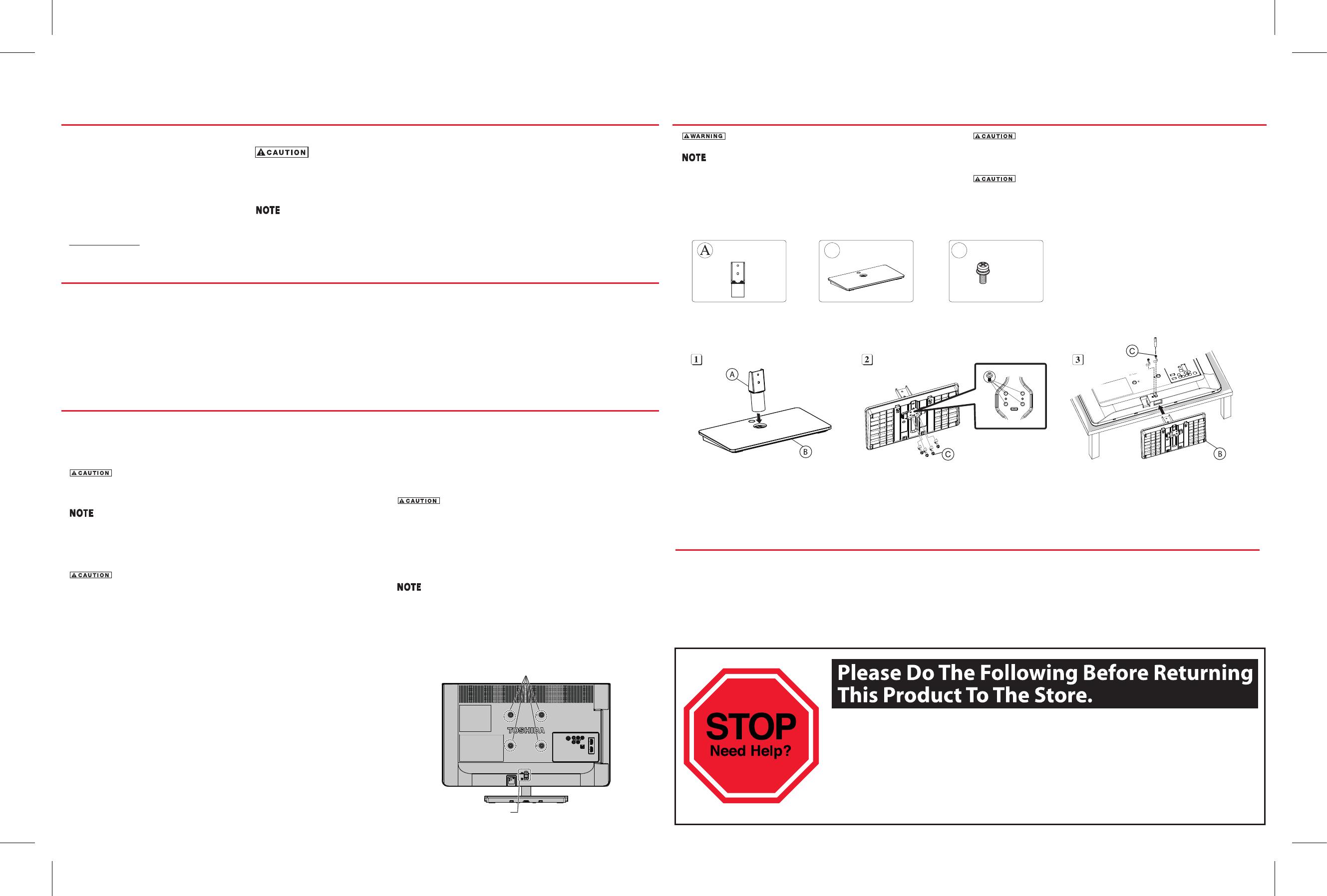Toshiba TV Antenna L1400UC User Guide | ManualsOnline com