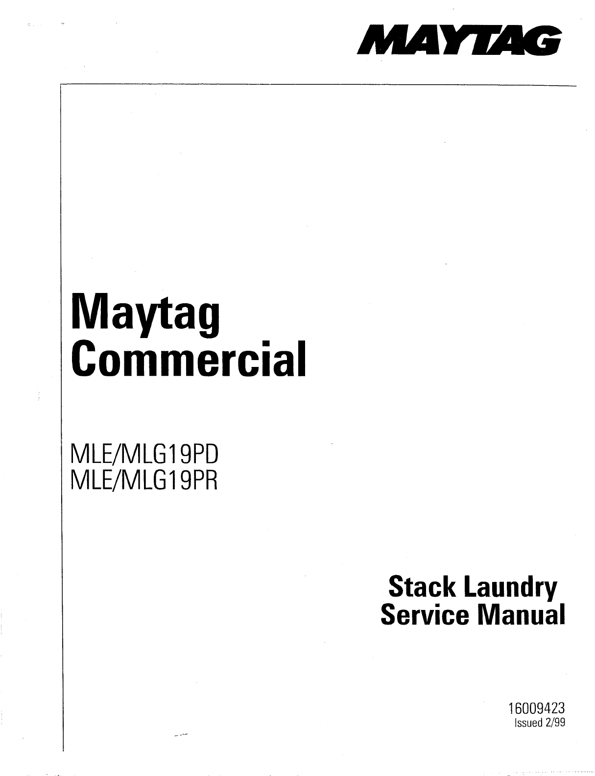 maytag washer mle mlg19pd user guide manualsonline com rh manualsonline com maytag commercial washer service manual maytag commercial washer user manual