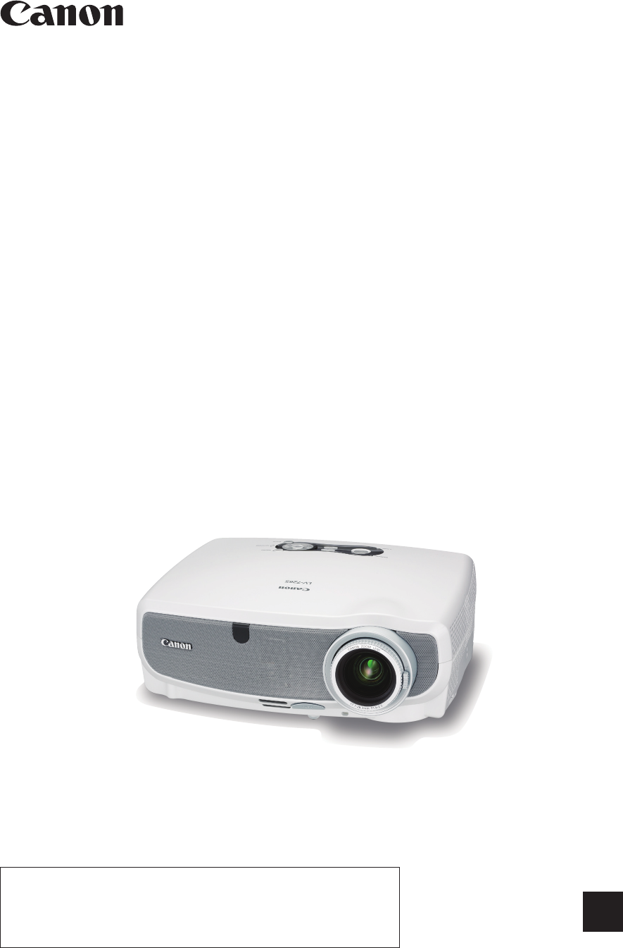 canon projector lv 7365 user guide manualsonline com rh office manualsonline com Moen 7365 Moen 7365