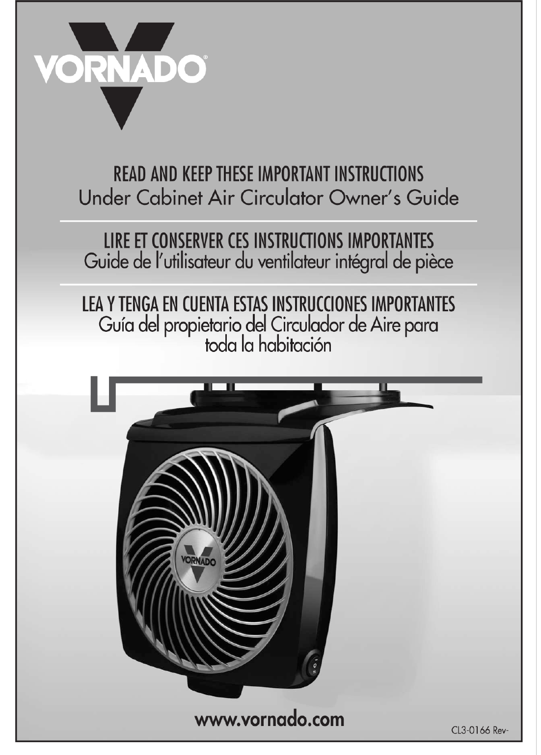 Vornado Fan Under Cabinet Air Circulator User Guide ...
