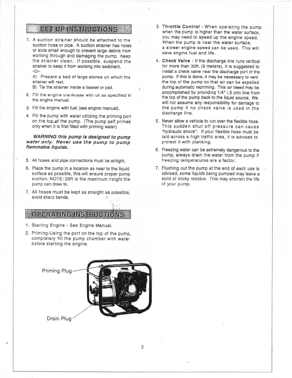 page 3 of north star water pump 109170 user guide manualsonline com rh homeappliance manualsonline com Instruction Manual Example Instruction Manual Book