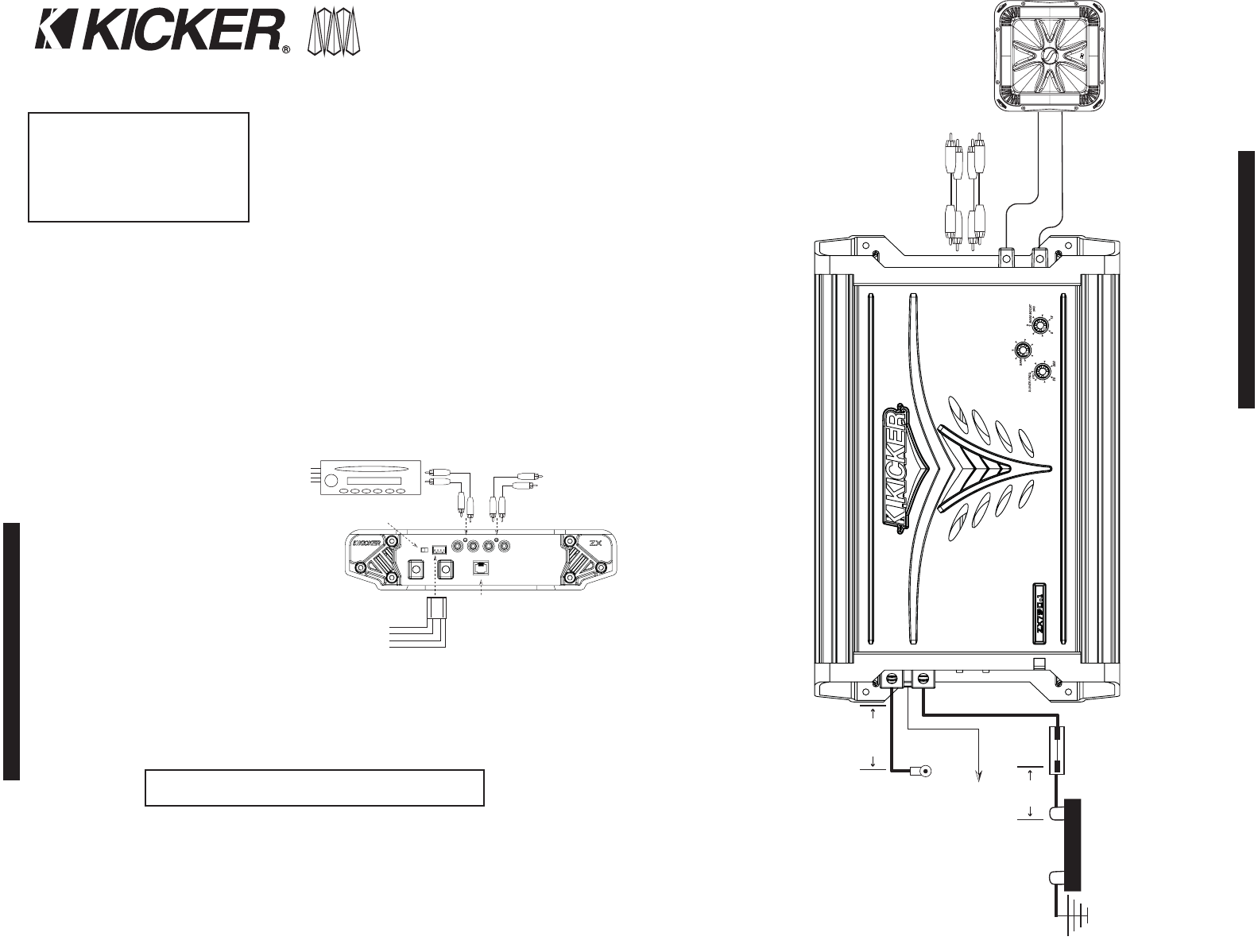 page 2 of kicker stereo amplifier zx400 1 user guide manualsonline com rh audio manualsonline com zx300.1 kicker amp manual kicker 250.1 amp manual
