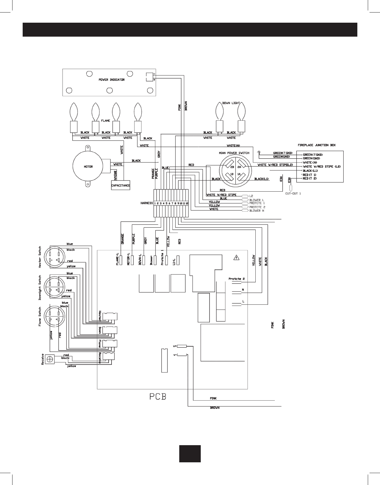 electric fireplace wiring diagram   33 wiring diagram