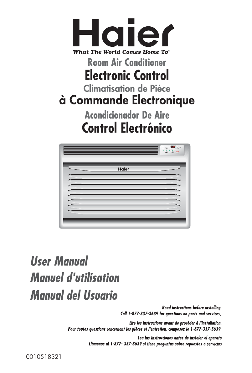 Haier Air Conditioner Hwr05xcj User Guide Manualsonline Com