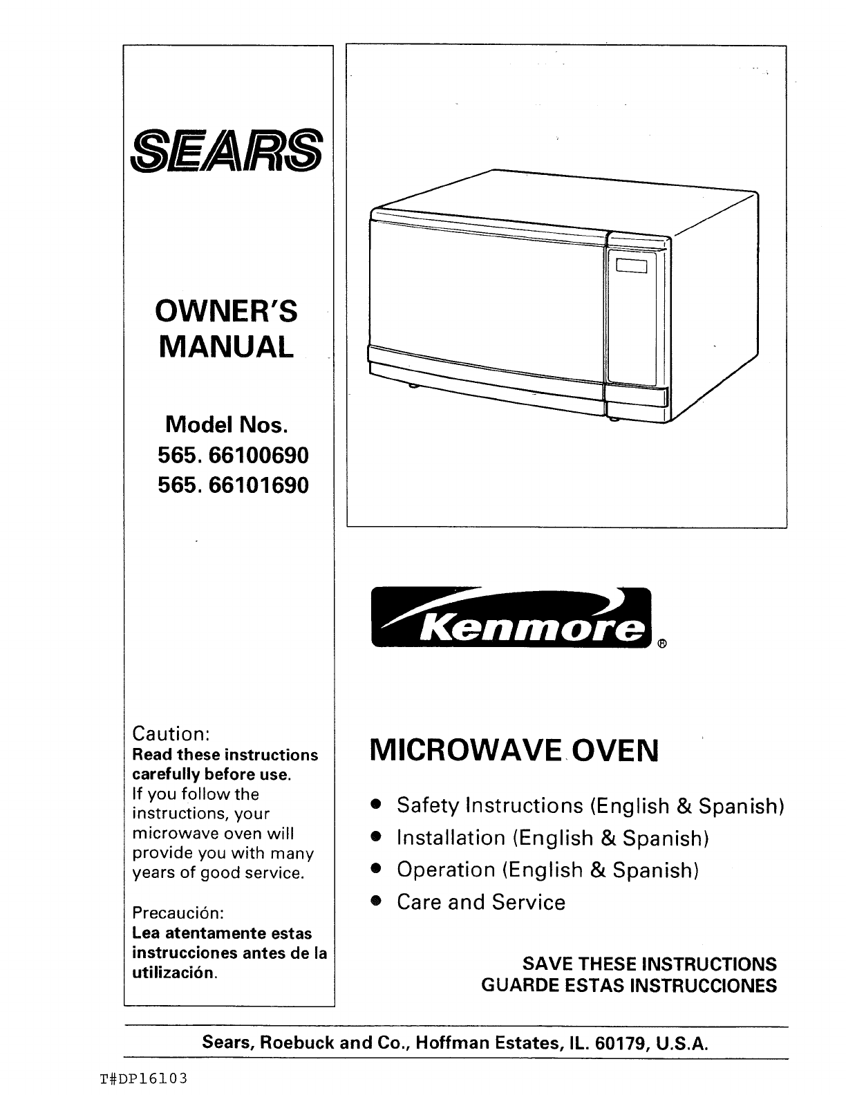 kenmore microwave oven 565 66101690 user guide manualsonline com rh kitchen manualsonline com Kenmore Microwave Hood Combination Kenmore Microwave Troubleshooting