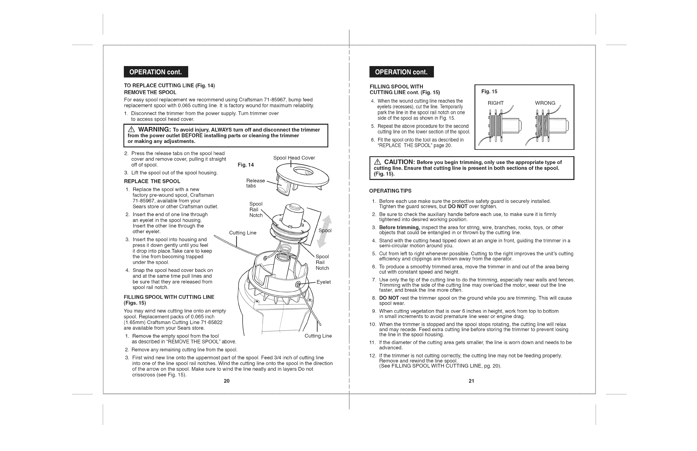 Page 11 of Craftsman Trimmer 172 74544 User Guide | ManualsOnline com