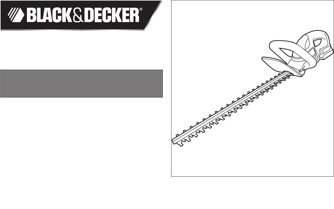 black and decker 20v trimmer manual