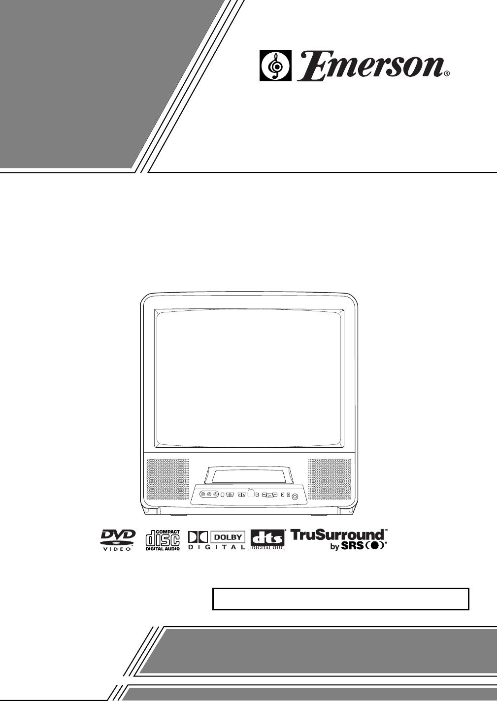 Emerson Tv Dvd Combo Ewc19da User Guide