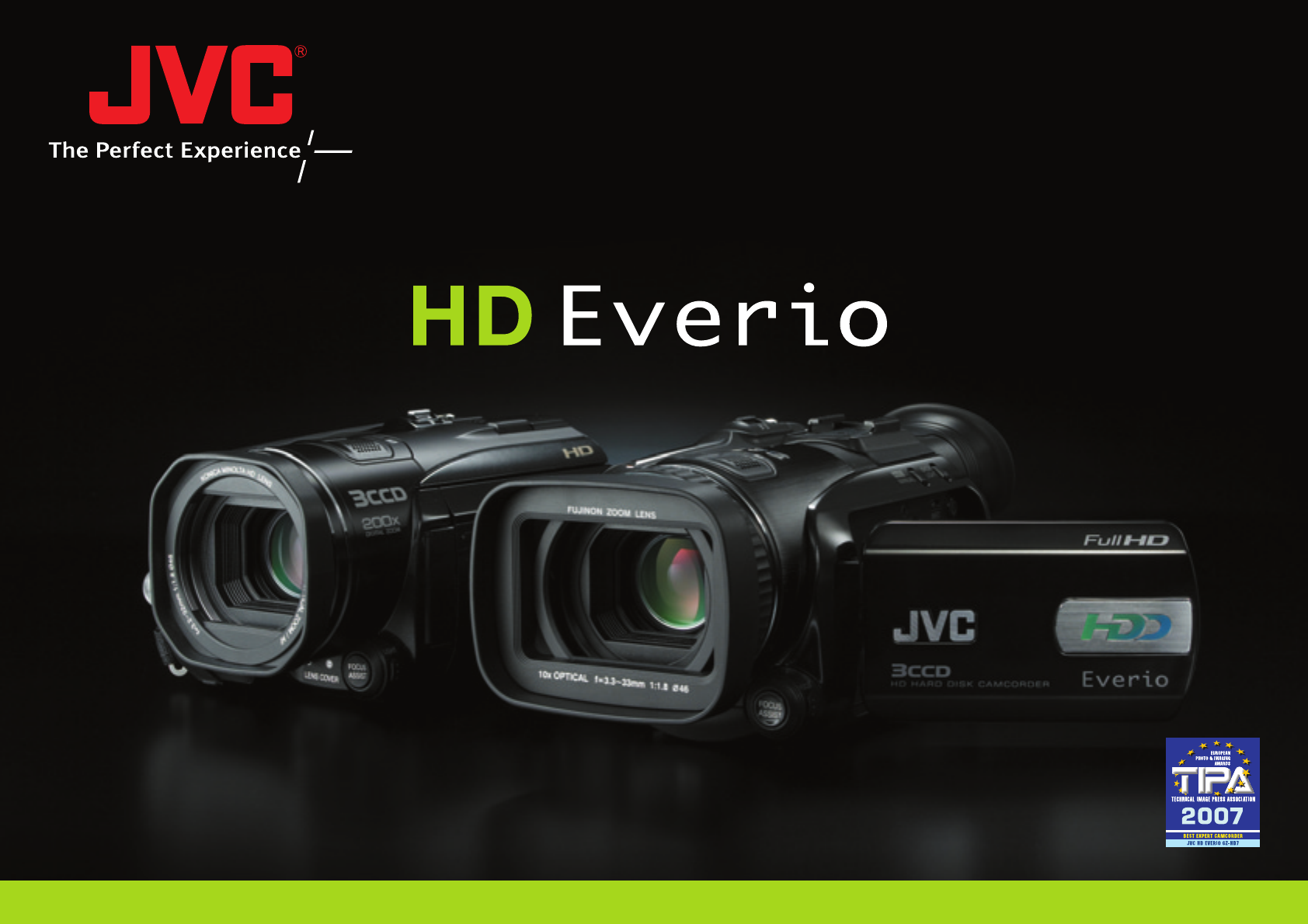 JVC GZ-HD3 Camcorder User Manual