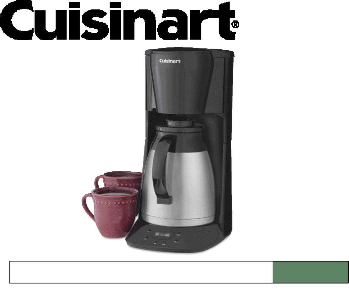Cuisinart Coffee Maker Filter Instructions : Cuisinart Coffeemaker DTC-975 User Guide ManualsOnline.com
