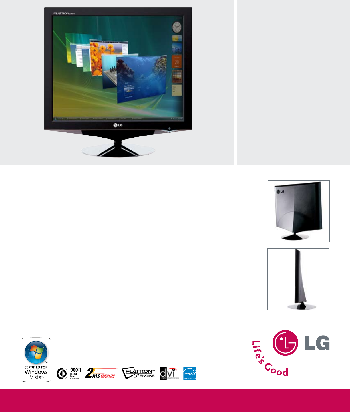 lg electronics computer monitor l1960tr bf user guide