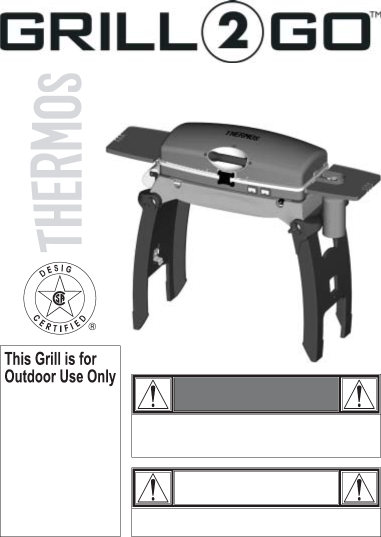 thermos gas grill 465611003 user guide. Black Bedroom Furniture Sets. Home Design Ideas