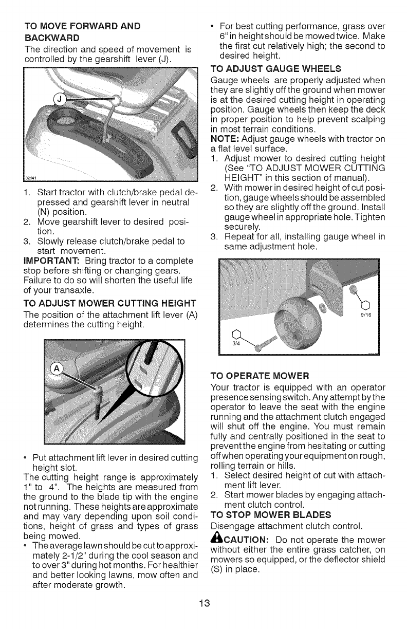 Page 13 of Craftsman Lawn Mower 917 289070 User Guide