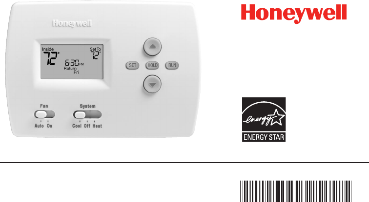 honeywell thermostat rth4300b user guide manualsonline com rh manualsonline com Honeywell Pro 8000 Thermostat Manual Honeywell Security