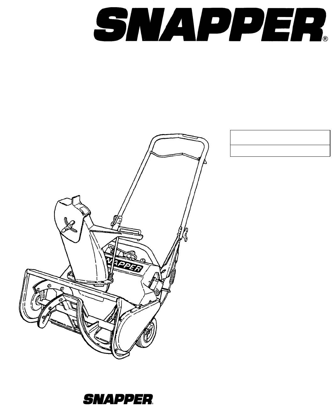 snapper snow blower c3203 user guide manualsonline com rh kitchen manualsonline com Snapper Snowblower Simplicity Snapper Snow Thrower Manual