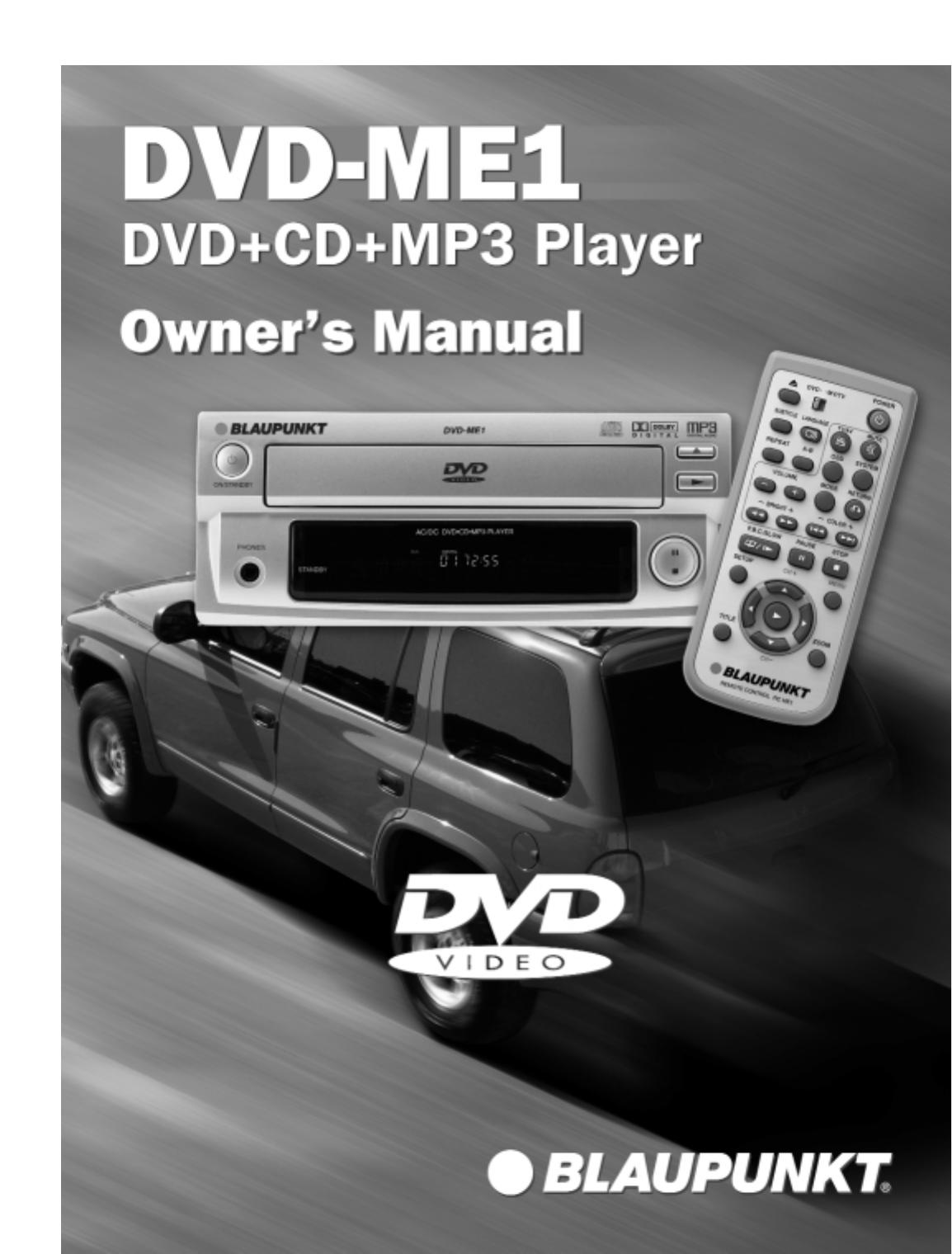 blaupunkt car video system dvd me1 user guide manualsonline com rh caraudio manualsonline com Blaupunkt Werke GmbH Blaupunkt Car Stereo iPod Adapters