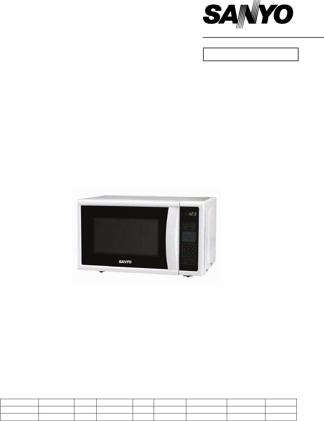 Sanyo Microwave Oven Em S2588w User Guide Manualsonline
