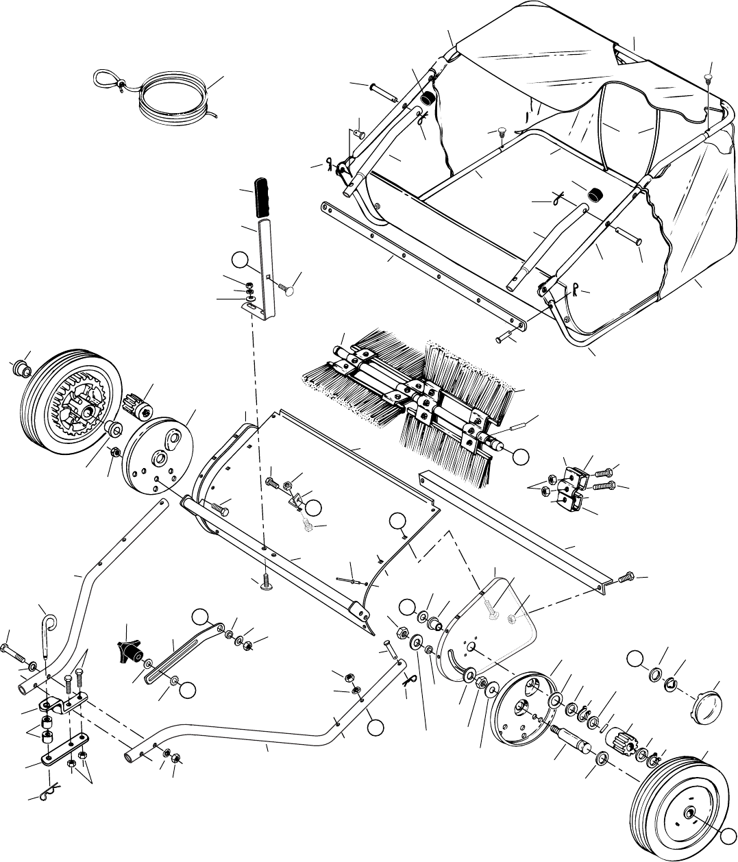 Lawn Sweeper Parts : Craftsman inch lawn sweeper parts list