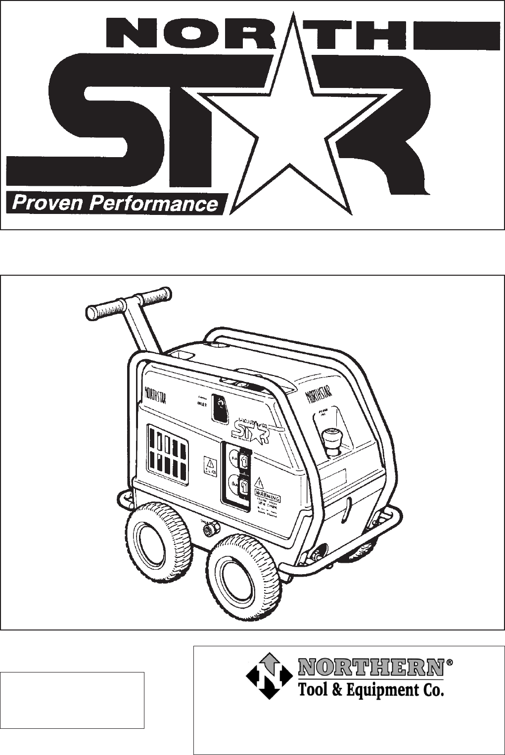 North Star Pressure Washer 157394 User Guide