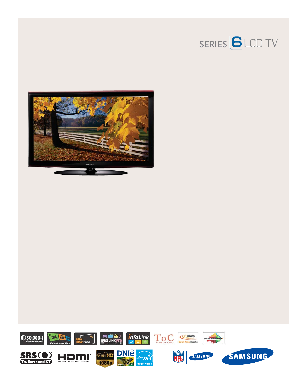samsung flat panel television ln40a650 user guide manualsonline com rh tv manualsonline com Samsung TV Instruction Manual Samsung TV Instruction Manual