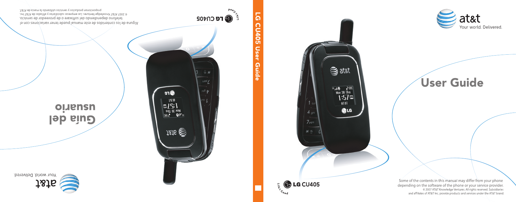 at t cell phone cu405 user guide manualsonline com rh cellphone manualsonline com LG Flip Cell Phones LG CU400