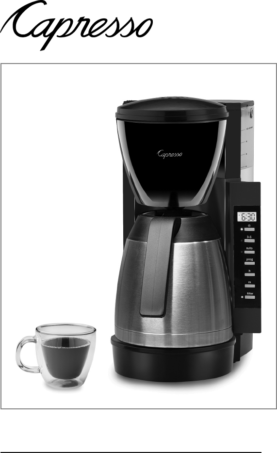 Capresso Coffee Maker Instructions : Capresso Coffeemaker #475 User Guide ManualsOnline.com