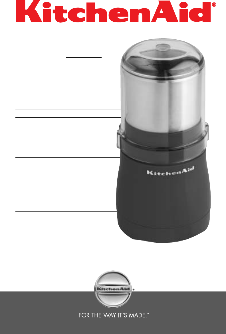 KitchenAid Coffee Grinder BCG100 User Guide ManualsOnline.com