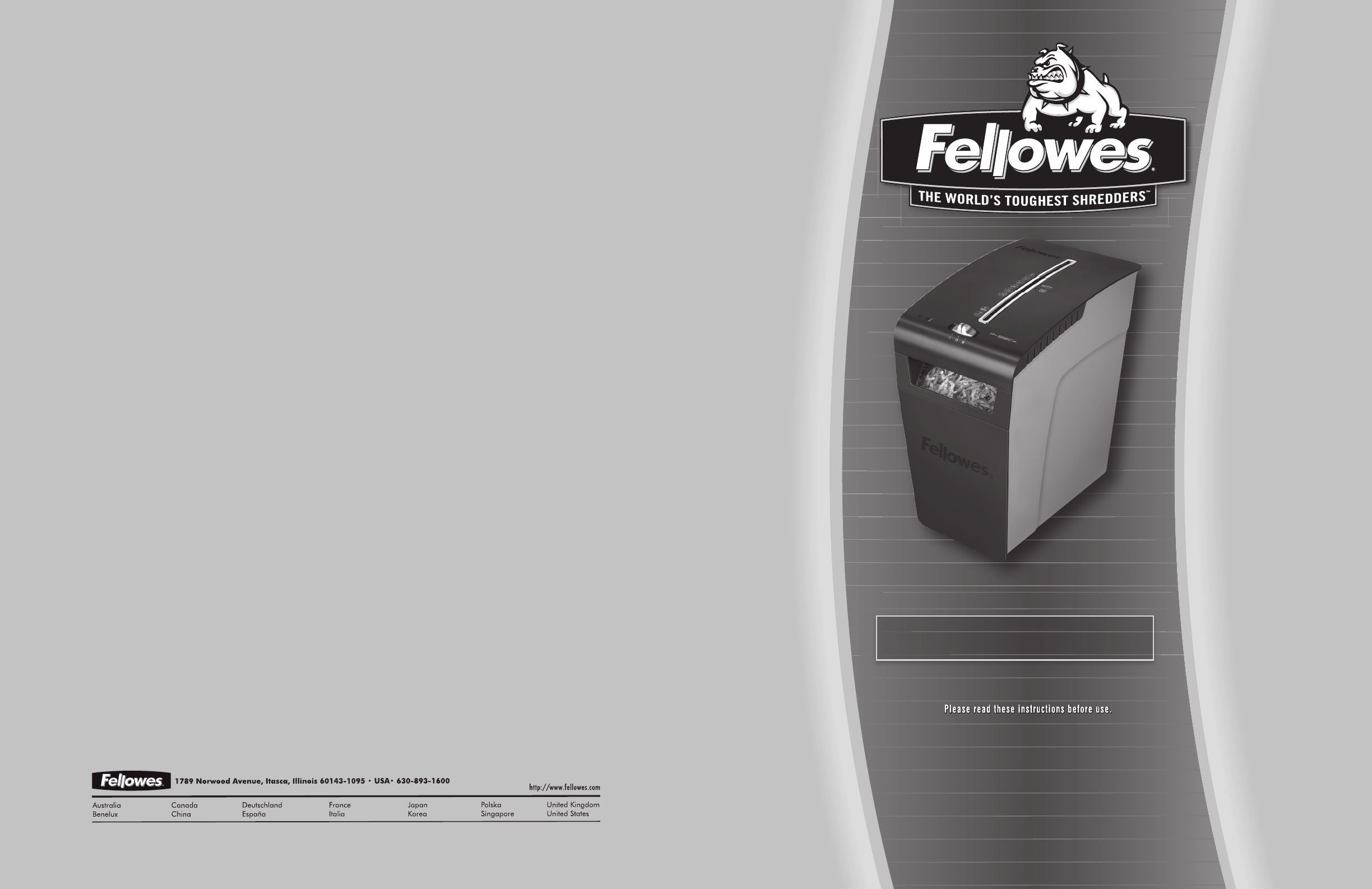 fellowes ps 60 shredder manual
